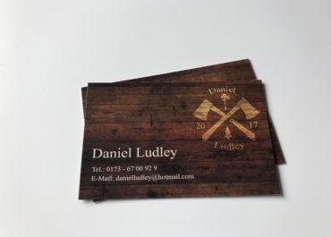 Visitenkarte 300g matt Holzoptik Daniel Ludley