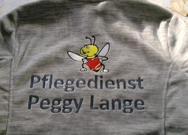 Stickerei Pullover – Pflegedienst Peggy Lange