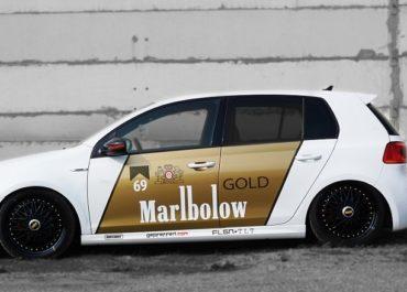VW Golf Car Wrapping Marlbolow