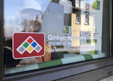 Ginkgo Apotheke Markranstädt Schaufensterfolierung