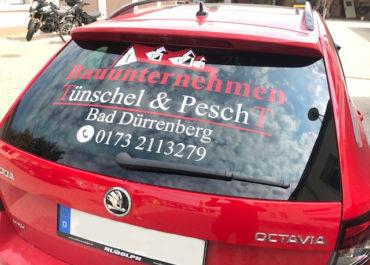 Bauunternehmen Tünschel & Pescht GbR // Folierung Heckscheibe Skoda Octavia RS