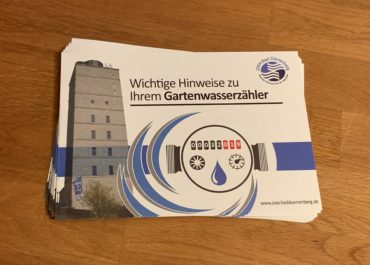 ZWA Bad Dürrenberg Gartenwasserzähler // Flyer