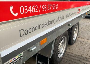 Saline Dachdecker Bauspengler GBR // Anhänger Folierung