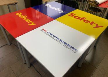 Shell // Folierung Tische