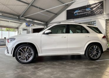 Mercedes GLE 350 CDI AMG – Line // Ladekantenschutz & Chrom Folierung