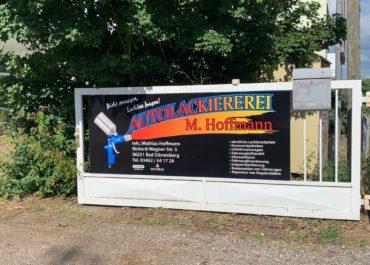 Aluminiumschild Autolackiererei Hoffmann // Digitaldruck