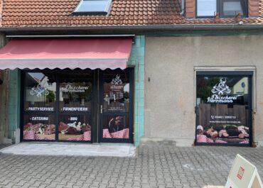 Schaufenster Folierung // Fleischerei Herrmann